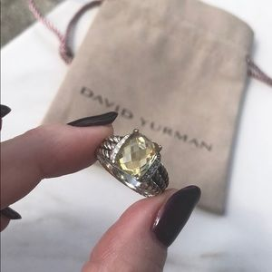 David Yurman Lemon Citrine Diamond Petite Wheaton